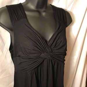 Spense black dress twist front sleeveless Medium M